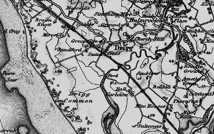 Old map of Drigg in 1897