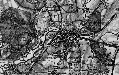 Old map of Droitwich Spa in 1898
