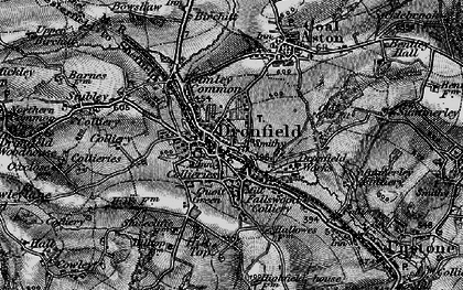 Old map of Dronfield in 1896