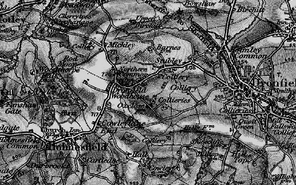 Old map of Dronfield Woodhouse in 1896