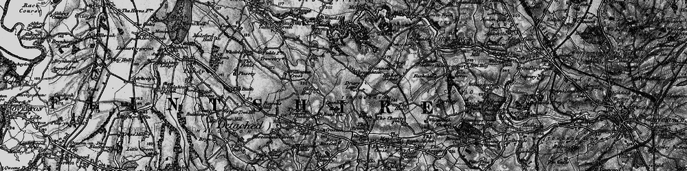 Old map of Yew Tree in 1897