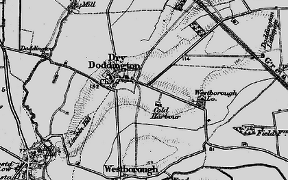 Old map of Westborough Gate Lodge in 1899