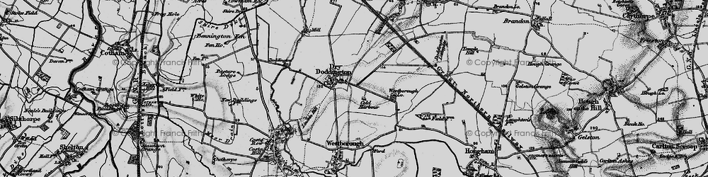 Old map of Westborough Lodge in 1899