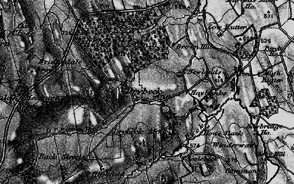 Old map of Wraes, The in 1897