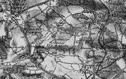 Old map of Drym in 1895