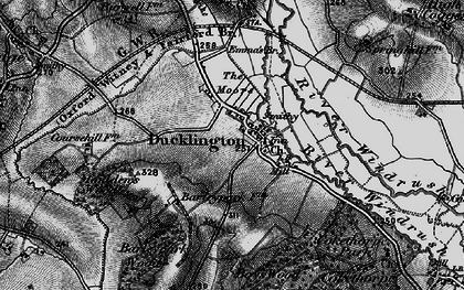 Old map of Ducklington in 1895