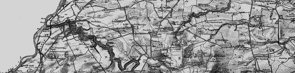 Old map of Duddo in 1897