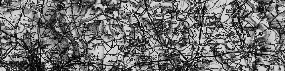Old map of Wyrley and Essington Canal in 1899
