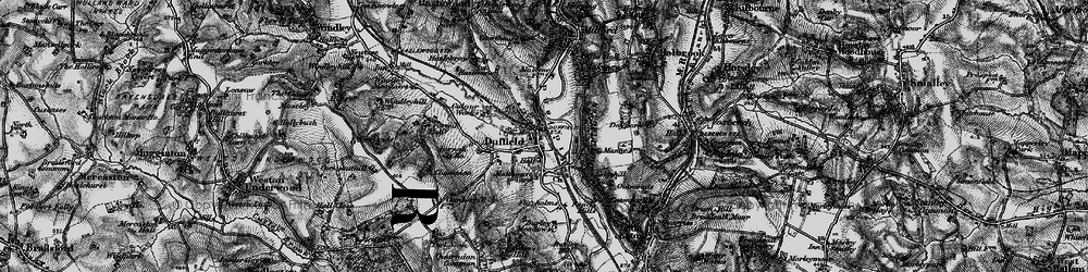 Old map of Duffield in 1895