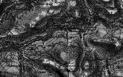 Old map of Duffryn in 1898