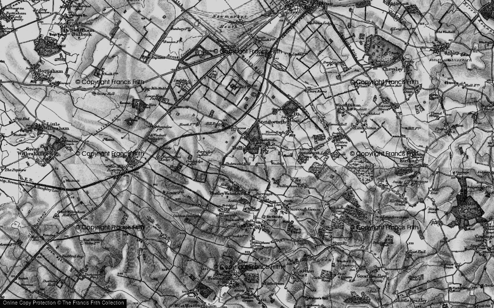 Old Map of Historic Map covering Lingay Hill in 1898