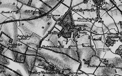Old map of Westley Bottom in 1898