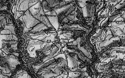 Old map of Duloe in 1896