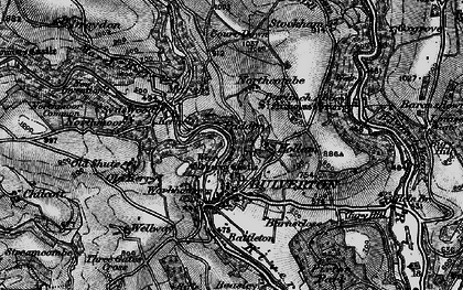 Old map of Dulverton in 1898