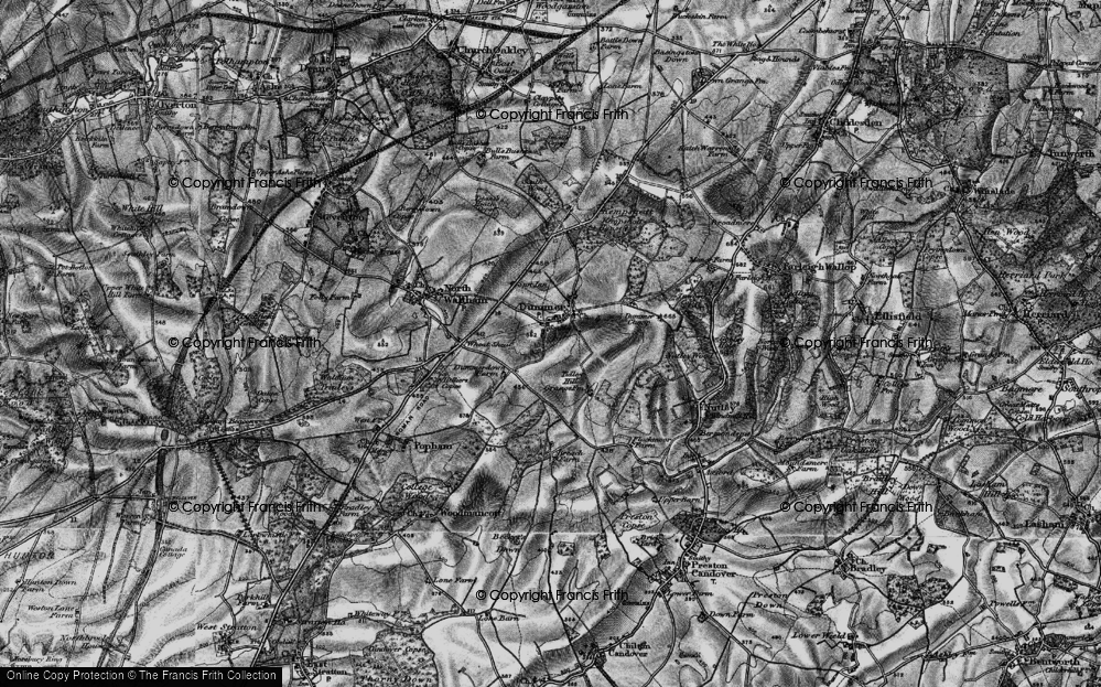 Old Map of Historic Map covering Tidley Hill in 1895