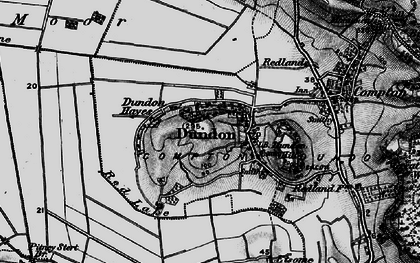 Old map of Dundon in 1898
