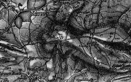 Old map of Dundry in 1898