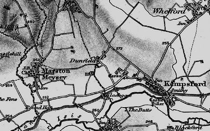 Old map of Dunfield in 1896