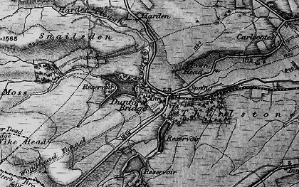Old map of Winscar Resr in 1896