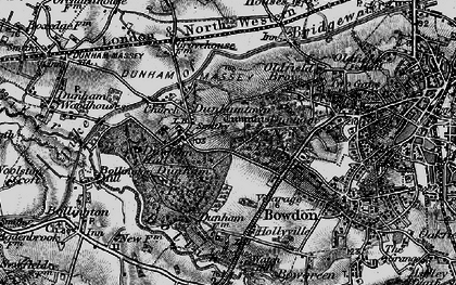 Old map of Dunham Massey Hall in 1896