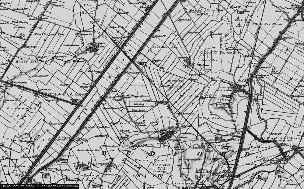 Old Map of Dunkirk, 1898 in 1898