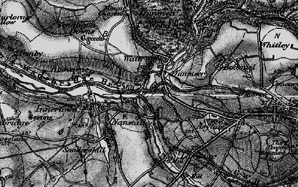 Old map of Dunmere in 1895