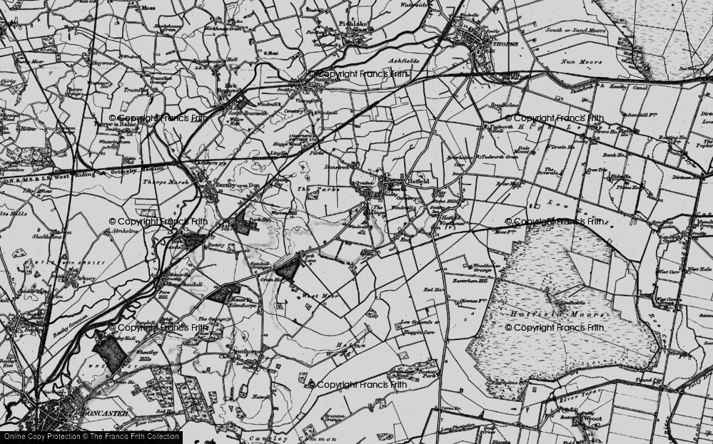 Old Map of Historic Map covering Lings Windmill in 1895