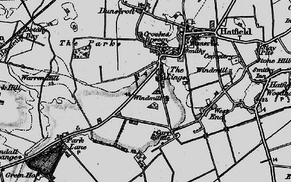 Old map of Lings Windmill in 1895