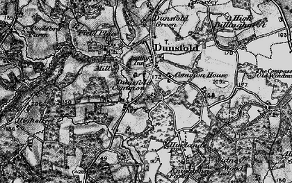 Old map of Dunsfold Common in 1896
