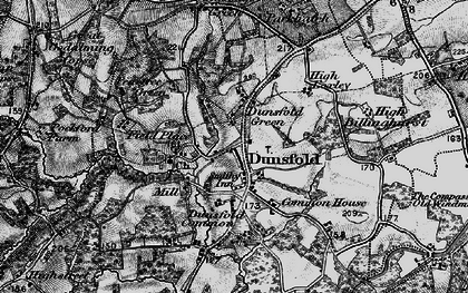 Old map of Dunsfold Green in 1896
