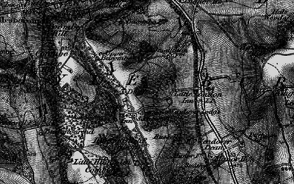 Old map of Bacombe Warren in 1895