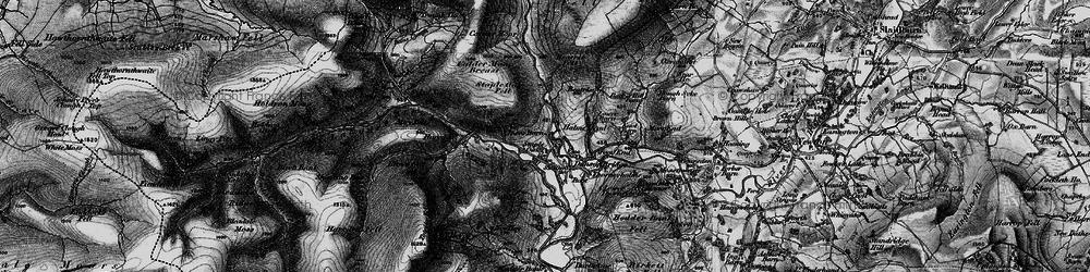 Old map of Dunsop Bridge in 1896
