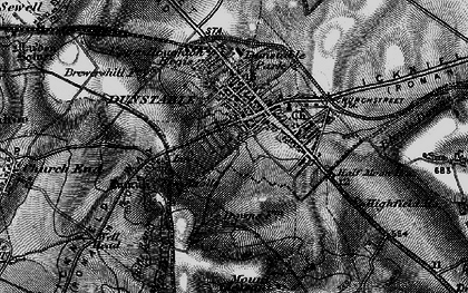 Old map of Dunstable in 1896