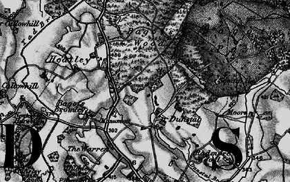Old map of Squitch Ho in 1897