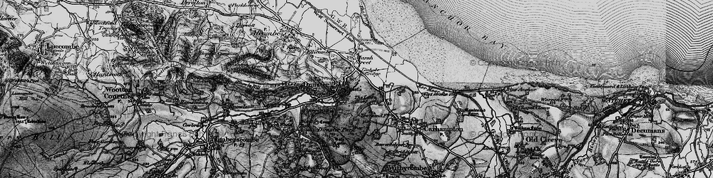 Old map of Dunster in 1898