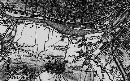Old map of Dunston in 1898