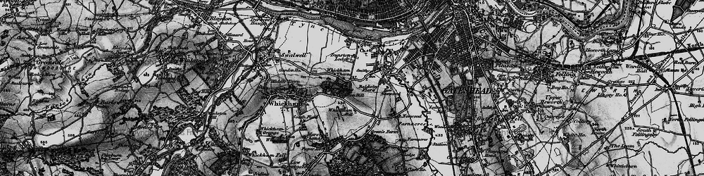 Old map of Whickham Thorns in 1898