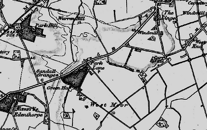 Old map of Wyndthorpe Hall in 1895