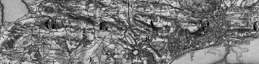 Old map of Dunvant in 1897