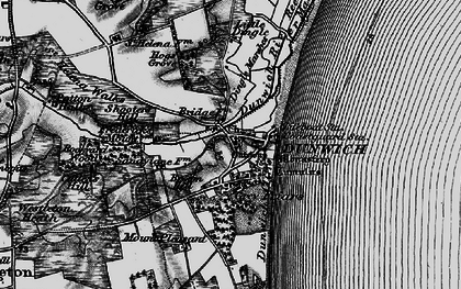 Old map of Dunwich in 1898