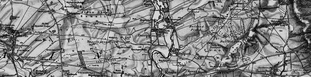 Old map of Woodhenge in 1898