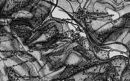 Old map of Durweston in 1898