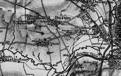 Old map of Duston in 1898