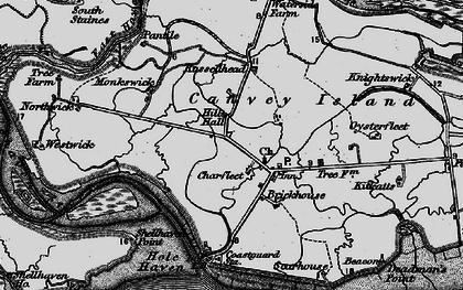 Old map of Coryton in 1896