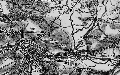 Old map of Dutson in 1896