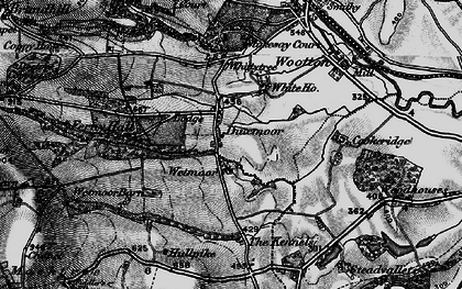 Old map of Wetmore Barn in 1899