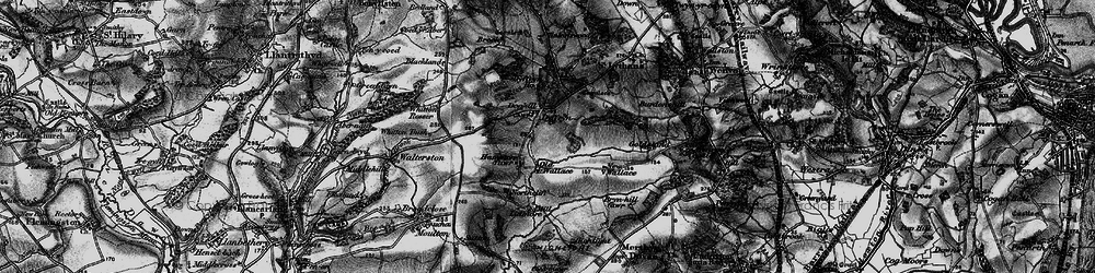 Old map of Whitton Mawr in 1897