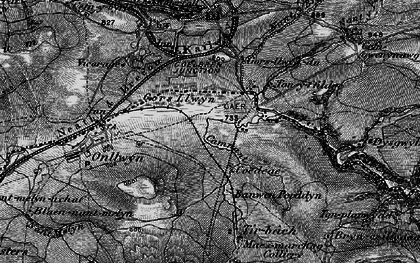 Old map of Banwen in 1898