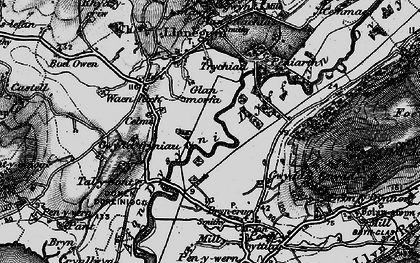 Old map of Dyffryn Dysynni in 1899