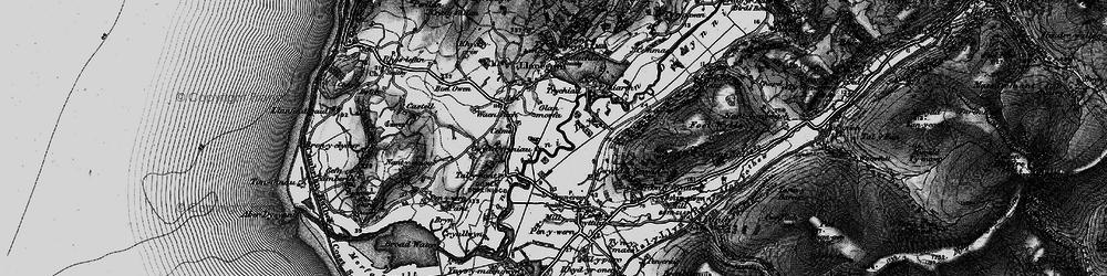 Old map of Dyffryn Dysynni in 1899